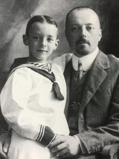 VN with his father, 1906, St. Petersburg. © The Vladimir Nabokov Literary Foundation.